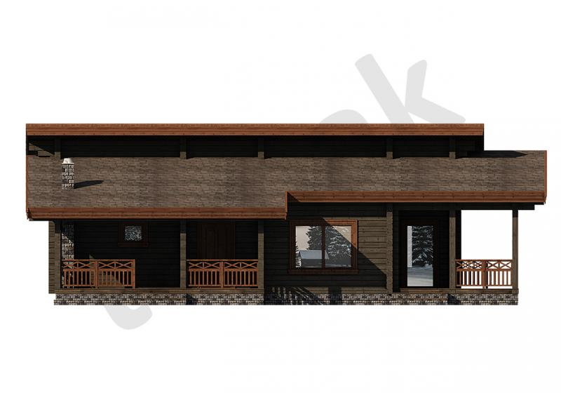 Проект дома из бруса 133 кв.м