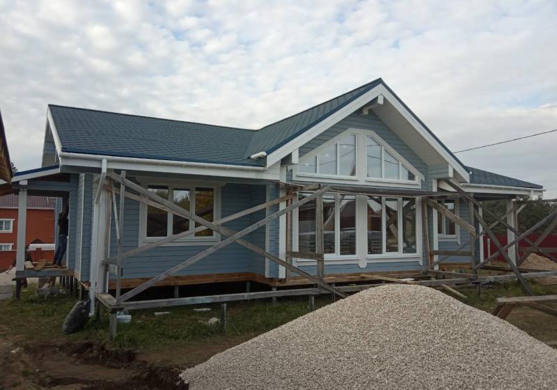 Одноэтажный дом из бруса 170 м2