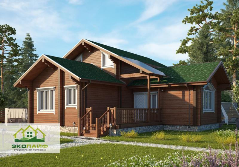 Проект дома из бруса 138 кв.м.