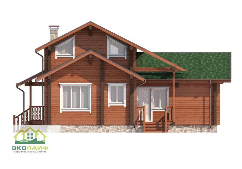 Проект дома из бруса до 140 кв.м.
