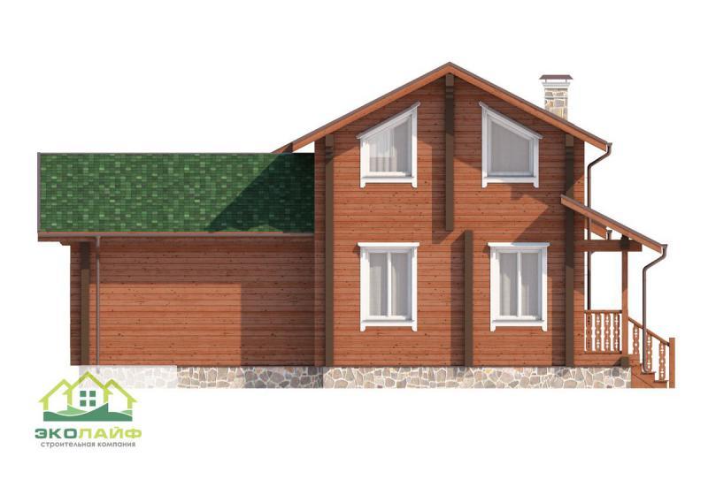 Проект дома из бруса до 150 кв.м.