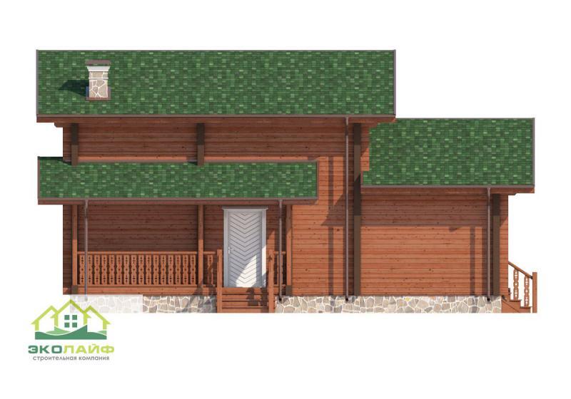 Проект дома из бруса от 130 кв.м.