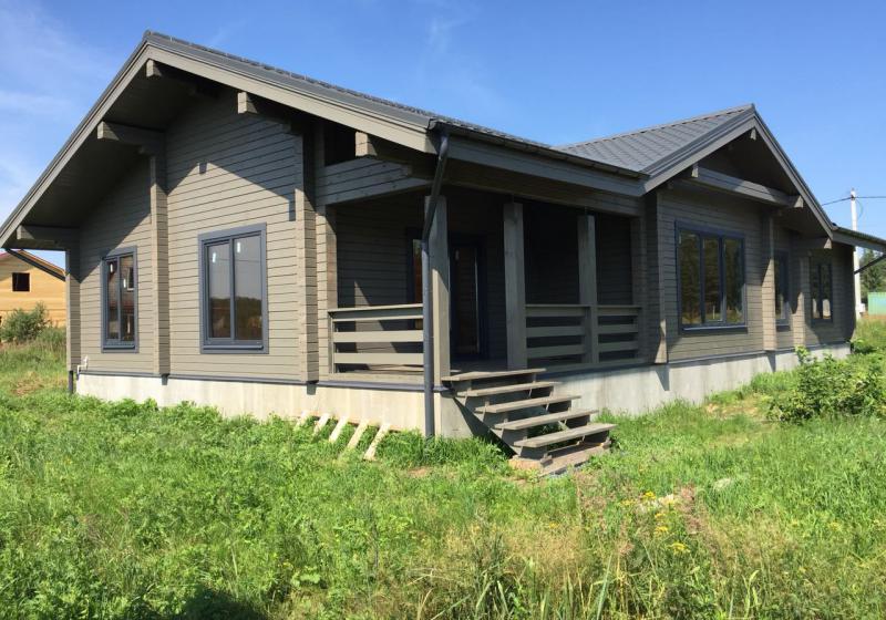 Одноэтажный дом из бруса 160 кв. м.