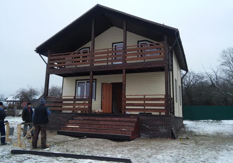 Каркасный дом 112 м2